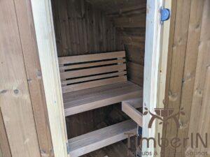 Outdoor sauna small mini for 2 4 persons 8