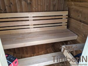 Outdoor sauna small mini for 2 4 persons 9