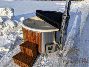 Wood fired hot tub with jets with external wood burner 2