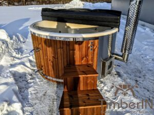 Wood fired hot tub with jets with external wood burner 4