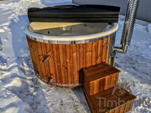 Wood fired hot tub with jets with external wood burner 5