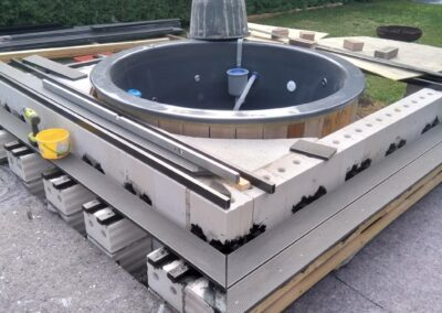 Forming the rise for your hot tub (3)