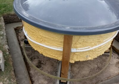 Positioning of the sunken hot tub (1)