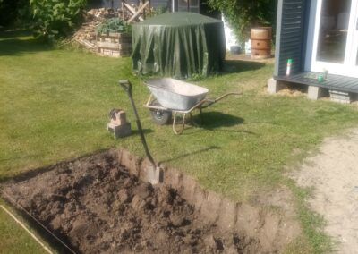 Removing the top layer of the soil (2)